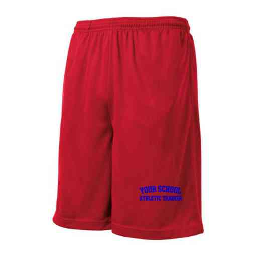 Athletic Trainer Embroidered Sport-Tek 9 inch Mesh Pocket Short