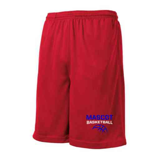 Basketball Embroidered Sport-Tek 9 inch Mesh Pocket Short