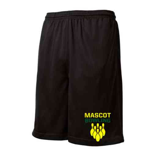 Bowling Embroidered Sport-Tek 9 inch Mesh Pocket Short