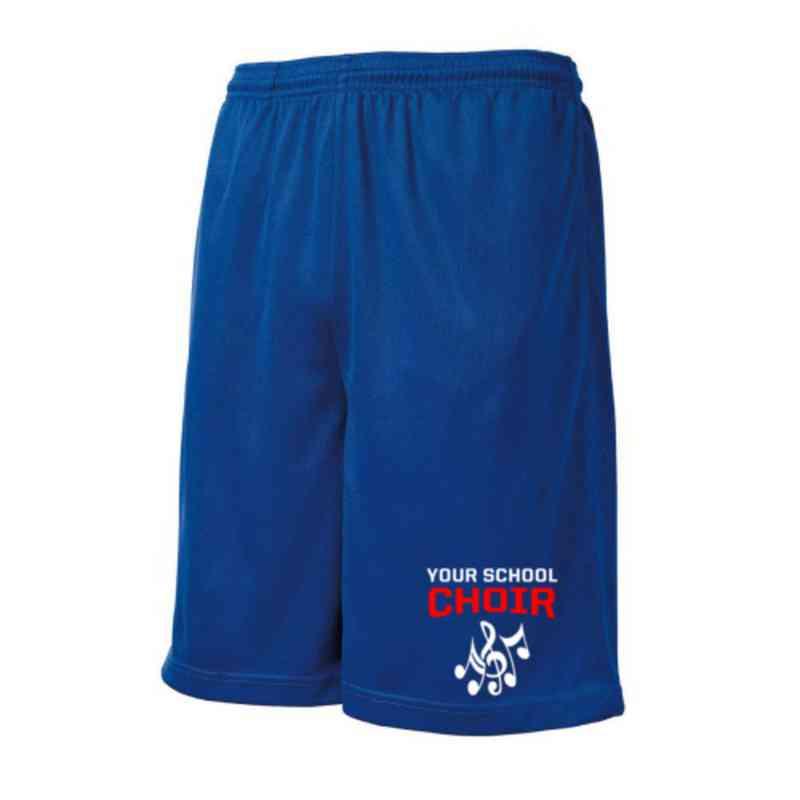 Choir Embroidered Sport-Tek 9 inch Mesh Pocket Short
