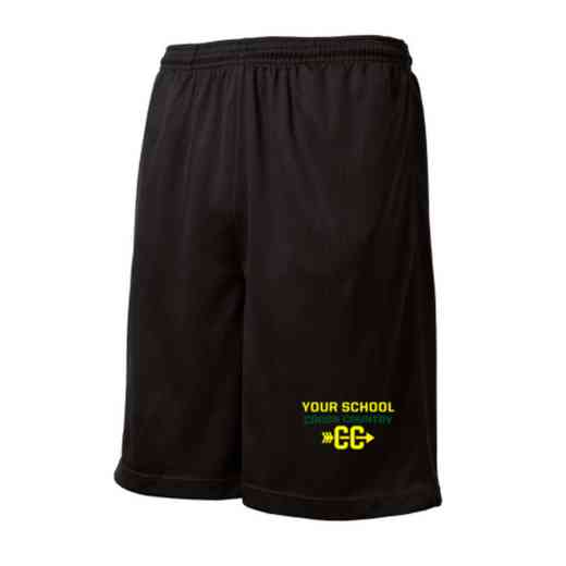 Cross Country Embroidered Sport-Tek 9 inch Mesh Pocket Short