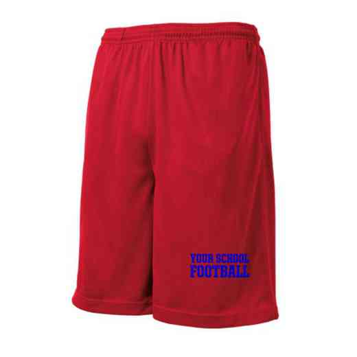 Football Embroidered Sport-Tek 9 inch Mesh Pocket Short