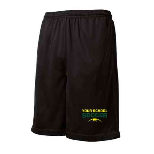 Soccer Embroidered Sport-Tek 9 inch Mesh Pocket Short