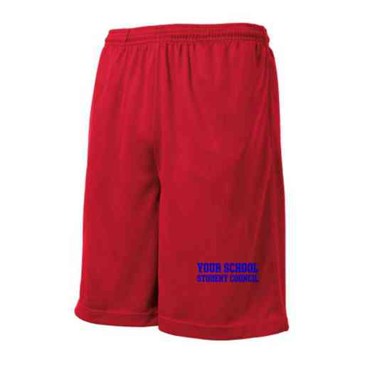 Student Council Embroidered Sport-Tek 9 inch Mesh Pocket Short