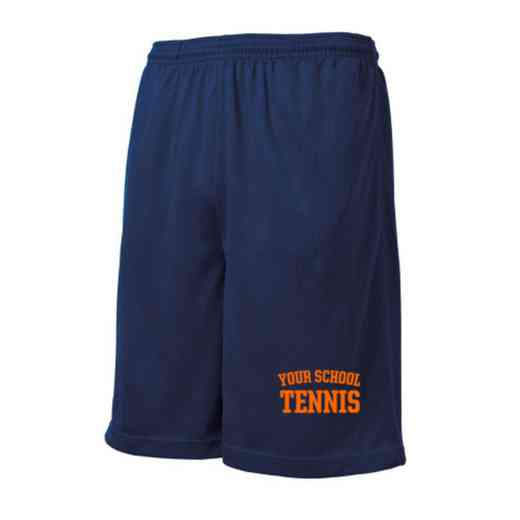 Tennis Embroidered Sport-Tek 9 inch Mesh Pocket Short