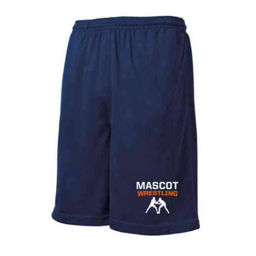 Wrestling Embroidered Sport-Tek 9 inch Mesh Pocket Short