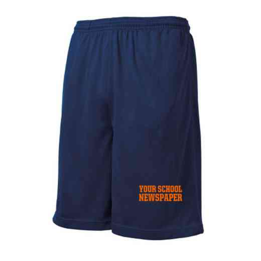 Newspaper Embroidered Sport-Tek 9 inch Mesh Pocket Short