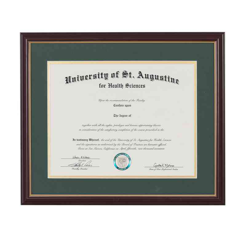 Standard 85 X 11 Cherry Gold Diploma Frame