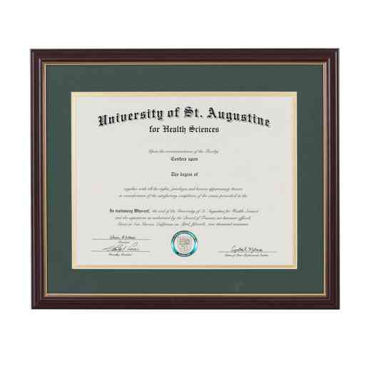 "Standard Cherry & Gold Diploma Frame fits 8.5"" x 11"" Diploma"