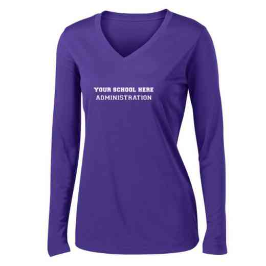 Administration Womens Sport-Tek Long Sleeve V-Neck Competitor T-Shirt