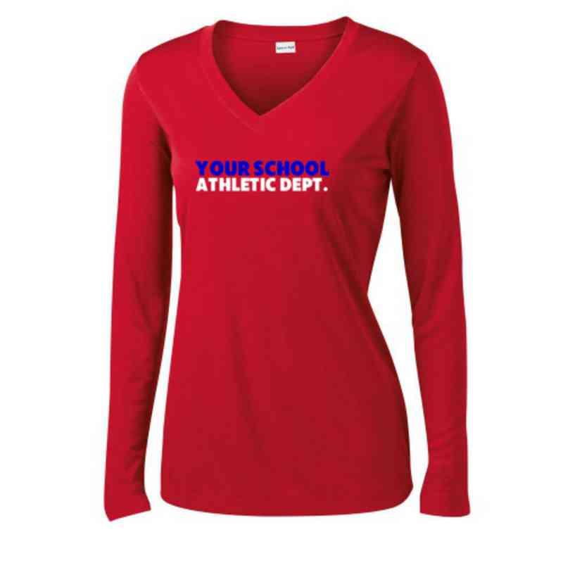 d94ebc8c Athletic Department Womens Sport-Tek Long Sleeve V-Neck ...