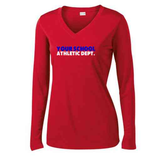 Athletic Department Womens Sport-Tek Long Sleeve V-Neck Competitor T-Shirt
