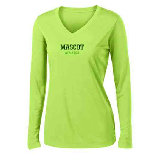 Athletics Womens Sport-Tek Long Sleeve V-Neck Competitor T-Shirt