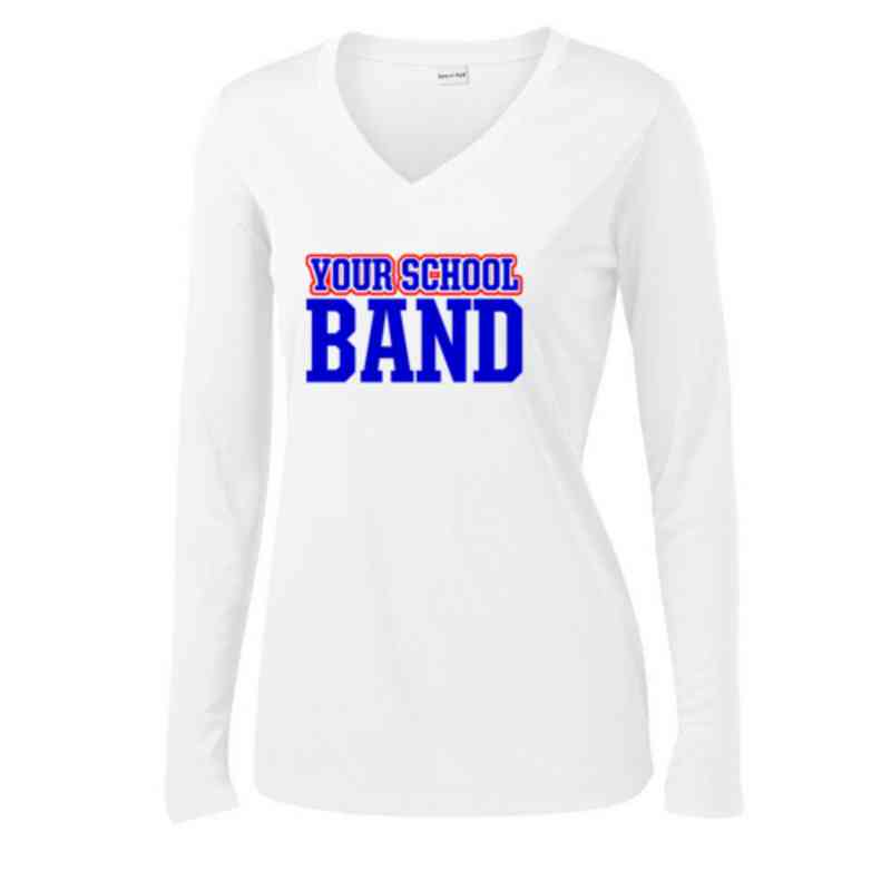 Band Womens Sport-Tek Long Sleeve V-Neck Competitor T-Shirt