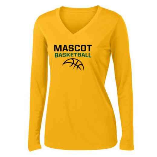 Basketball Womens Sport-Tek Long Sleeve V-Neck Competitor T-Shirt