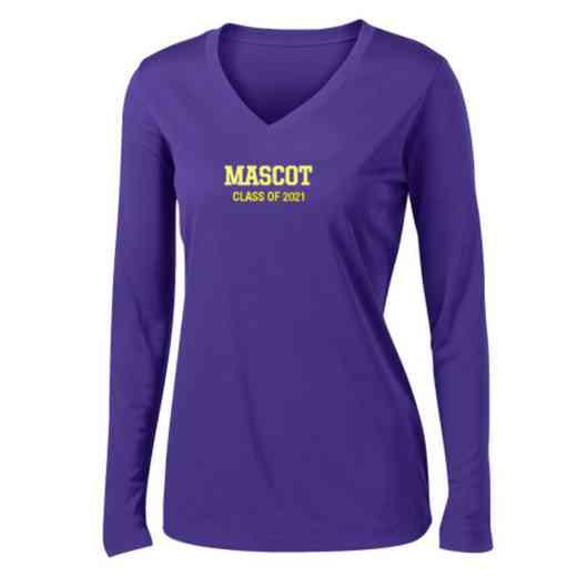 Class of  Womens Sport-Tek Long Sleeve V-Neck Competitor T-Shirt