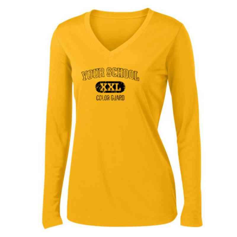 Color Guard Womens Sport-Tek Long Sleeve V-Neck Competitor T-Shirt