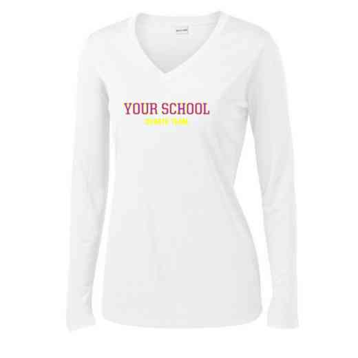 Debate Team Womens Sport-Tek Long Sleeve V-Neck Competitor T-Shirt