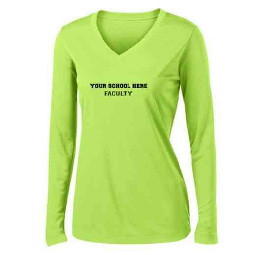 Faculty Womens Sport-Tek Long Sleeve V-Neck Competitor T-Shirt