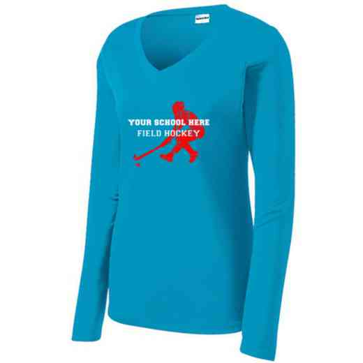 Field Hockey Womens Sport-Tek Long Sleeve V-Neck Competitor T-Shirt