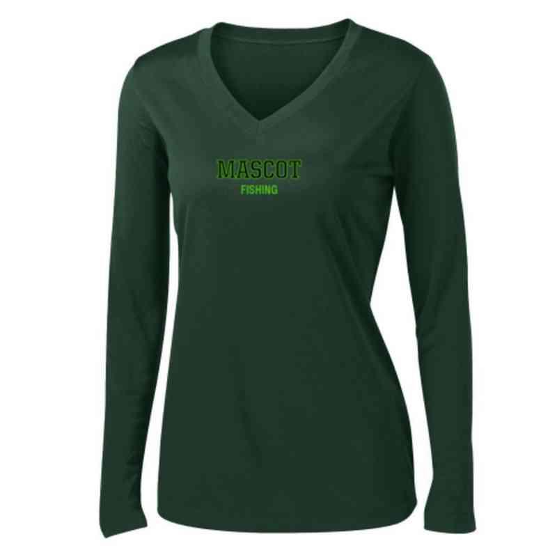 Fishing Womens Sport-Tek Long Sleeve V-Neck Competitor T-Shirt