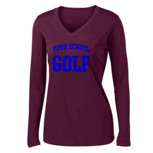 Golf Womens Sport-Tek Long Sleeve V-Neck Competitor T-Shirt