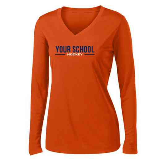 Hockey Womens Sport-Tek Long Sleeve V-Neck Competitor T-Shirt