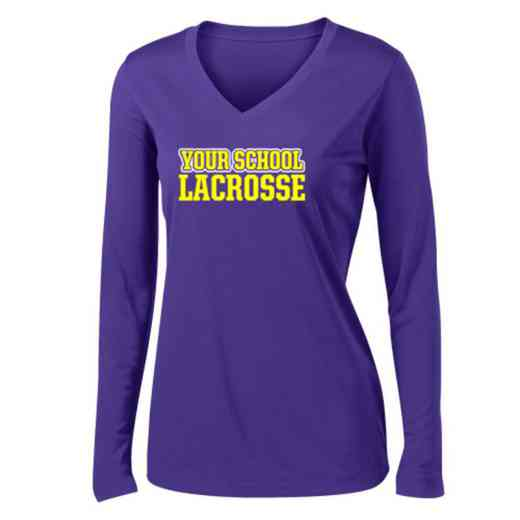 Lacrosse Womens Sport-Tek Long Sleeve V-Neck Competitor T-Shirt
