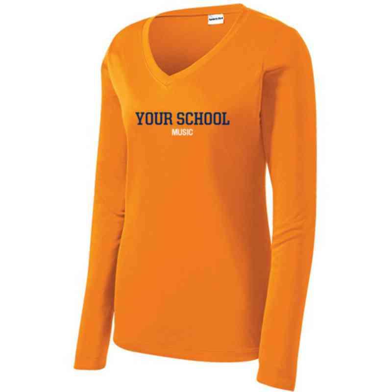 Music Womens Sport-Tek Long Sleeve V-Neck Competitor T-Shirt
