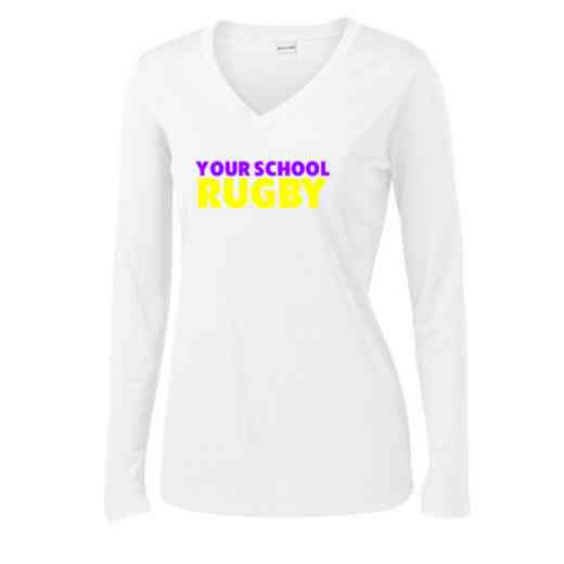 Rugby Womens Sport-Tek Long Sleeve V-Neck Competitor T-Shirt