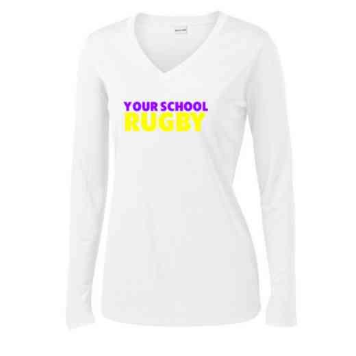 Rugby Womens Sport-Tek Long Sleeve V-Neck Competitor T-Shirt