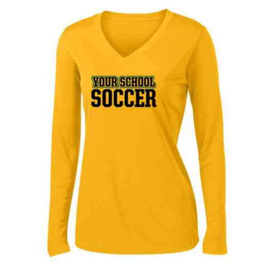 Soccer Womens Sport-Tek Long Sleeve V-Neck Competitor T-Shirt