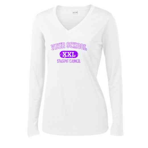 Student Council Womens Sport-Tek Long Sleeve V-Neck Competitor T-Shirt