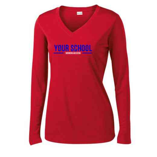 Swimming and Diving Womens Sport-Tek Long Sleeve V-Neck Competitor T-Shirt