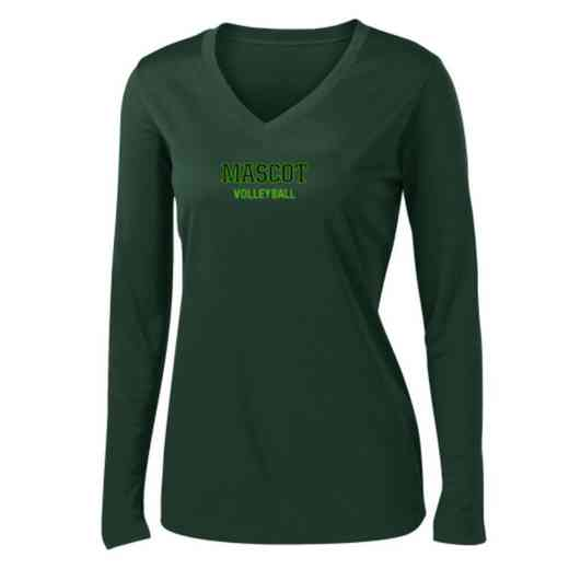 Volleyball  Womens Sport-Tek Long Sleeve V-Neck Competitor T-Shirt