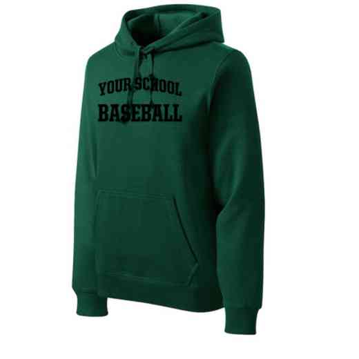 Baseball Heavyweight Sport-Tek Adult Hooded Sweatshirt