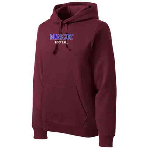 Football Heavyweight Sport-Tek Adult Hooded Sweatshirt