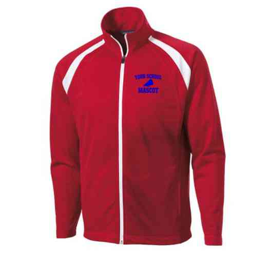 Men's Cheerleading Embroidered Tricot Track Jacket