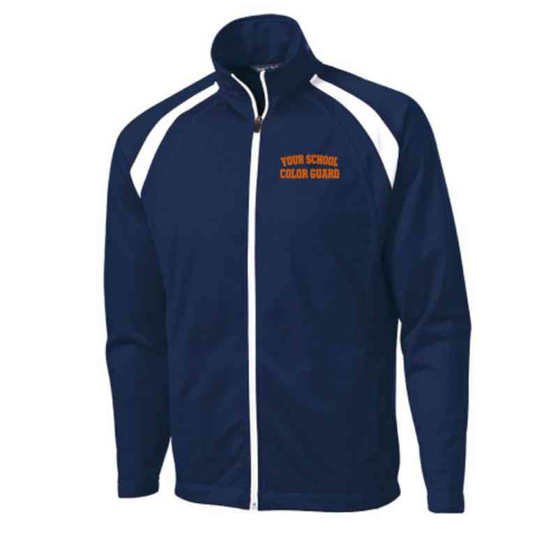 Men's Color Guard Embroidered Tricot Track Jacket