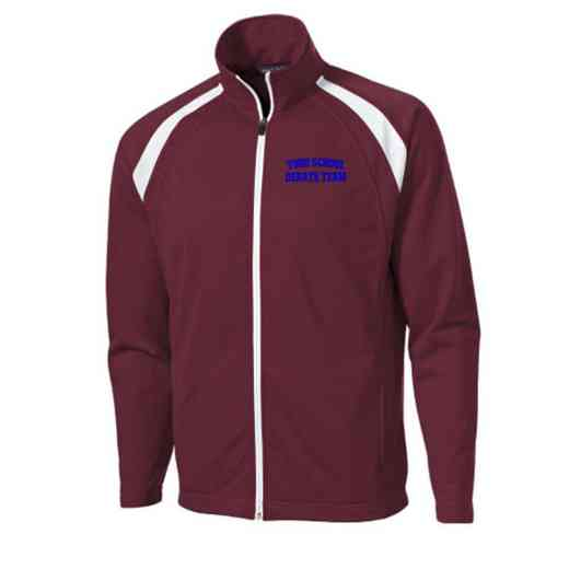 Men's Debate Team Embroidered Tricot Track Jacket