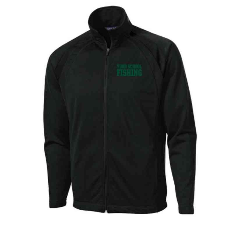 Men's Fishing Embroidered Tricot Track Jacket