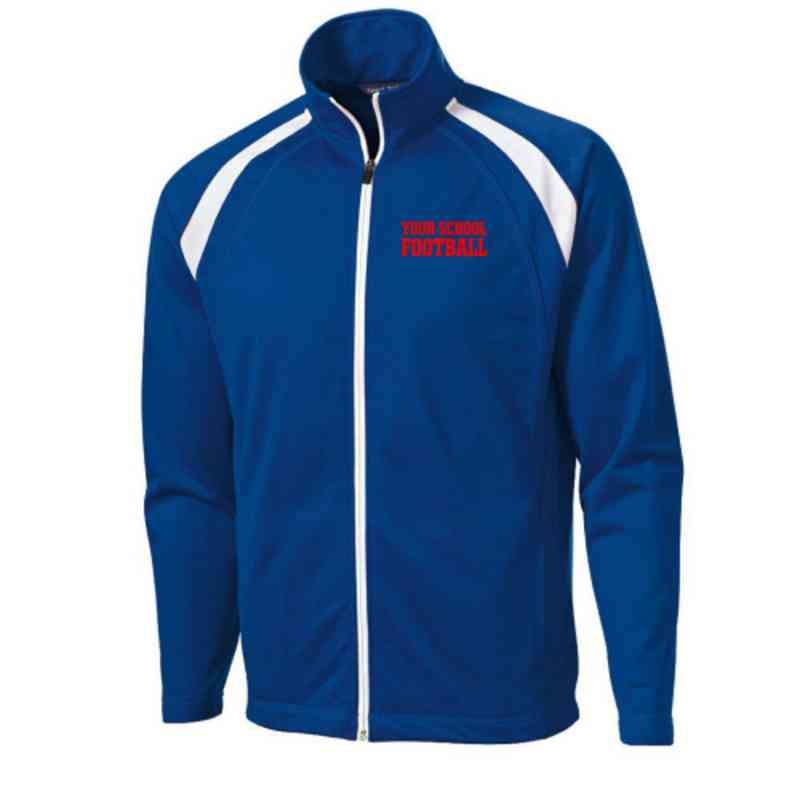 Men's Football Embroidered Tricot Track Jacket