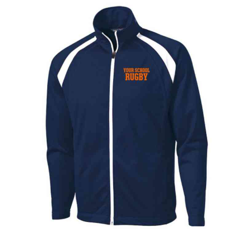 Men's Rugby Embroidered Tricot Track Jacket