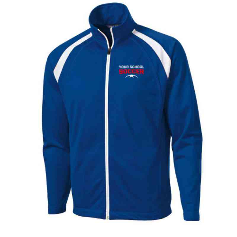 Men's Soccer Embroidered Tricot Track Jacket