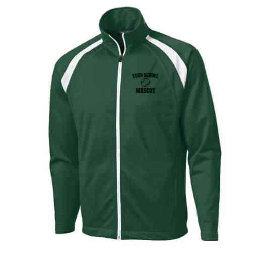 Men's Softball Embroidered Tricot Track Jacket