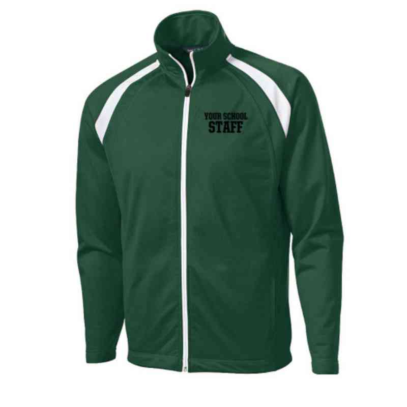 Men's Staff Embroidered Tricot Track Jacket