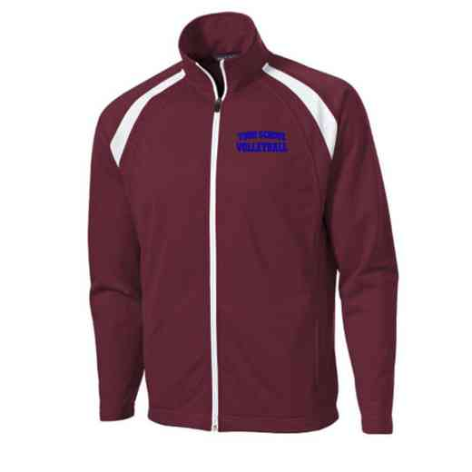 Men's Volleyball  Embroidered Tricot Track Jacket