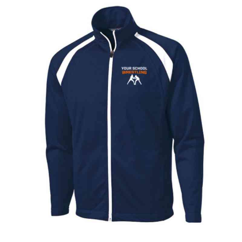 Men's Wrestling Embroidered Tricot Track Jacket