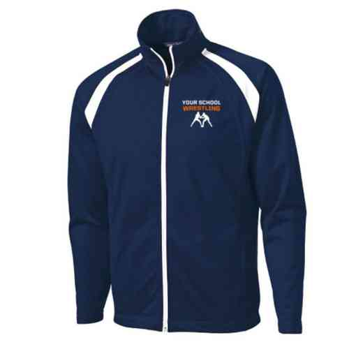 Men's Wrestling Embroidered Tricot Track Jacket