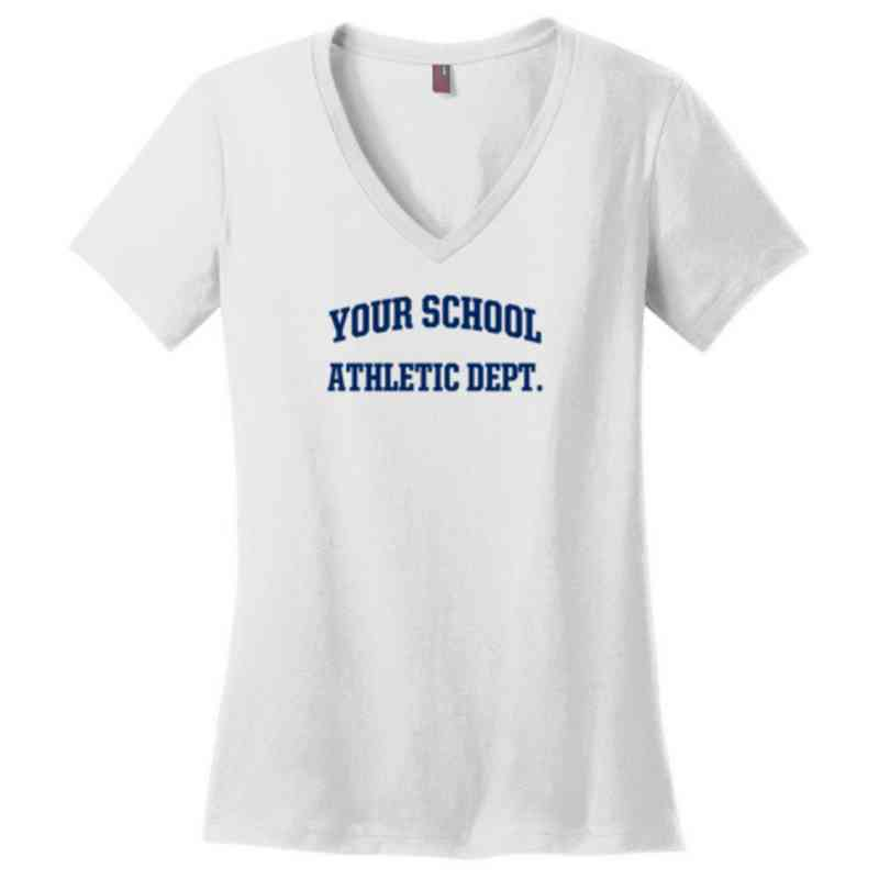Athletic Department Womens Cotton V-Neck T-shirt